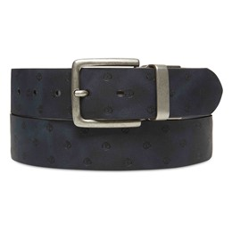Textured Leather Belt with dots