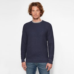 Manhan River Lightweight Texture Washed Crew