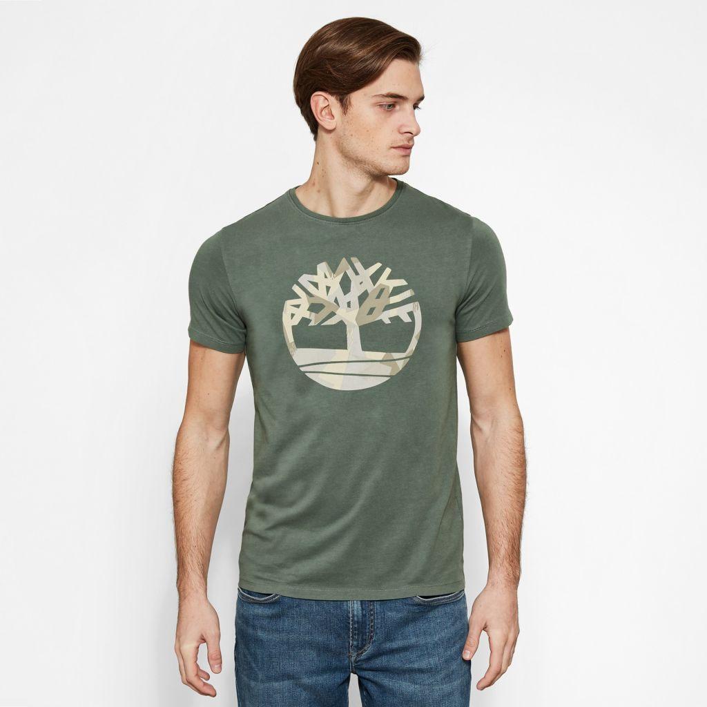 SS Kennebec River Seasonal Pattern Brand Slim Tee (Tree