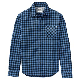 LS Back River Brushed Cotton Checks Shirt Slim