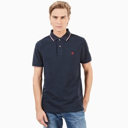 SS Millers River Pique Tipped Polo Slim