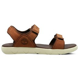 Nubble Leather 2-Strap Sandal