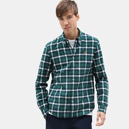 LS Back River Midweight Herringbone Check Shirt Slim