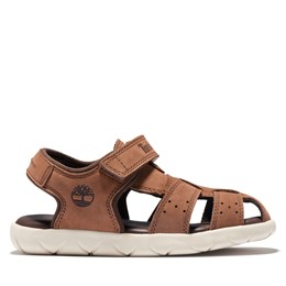 Nubble Leather Fisherman Sandal